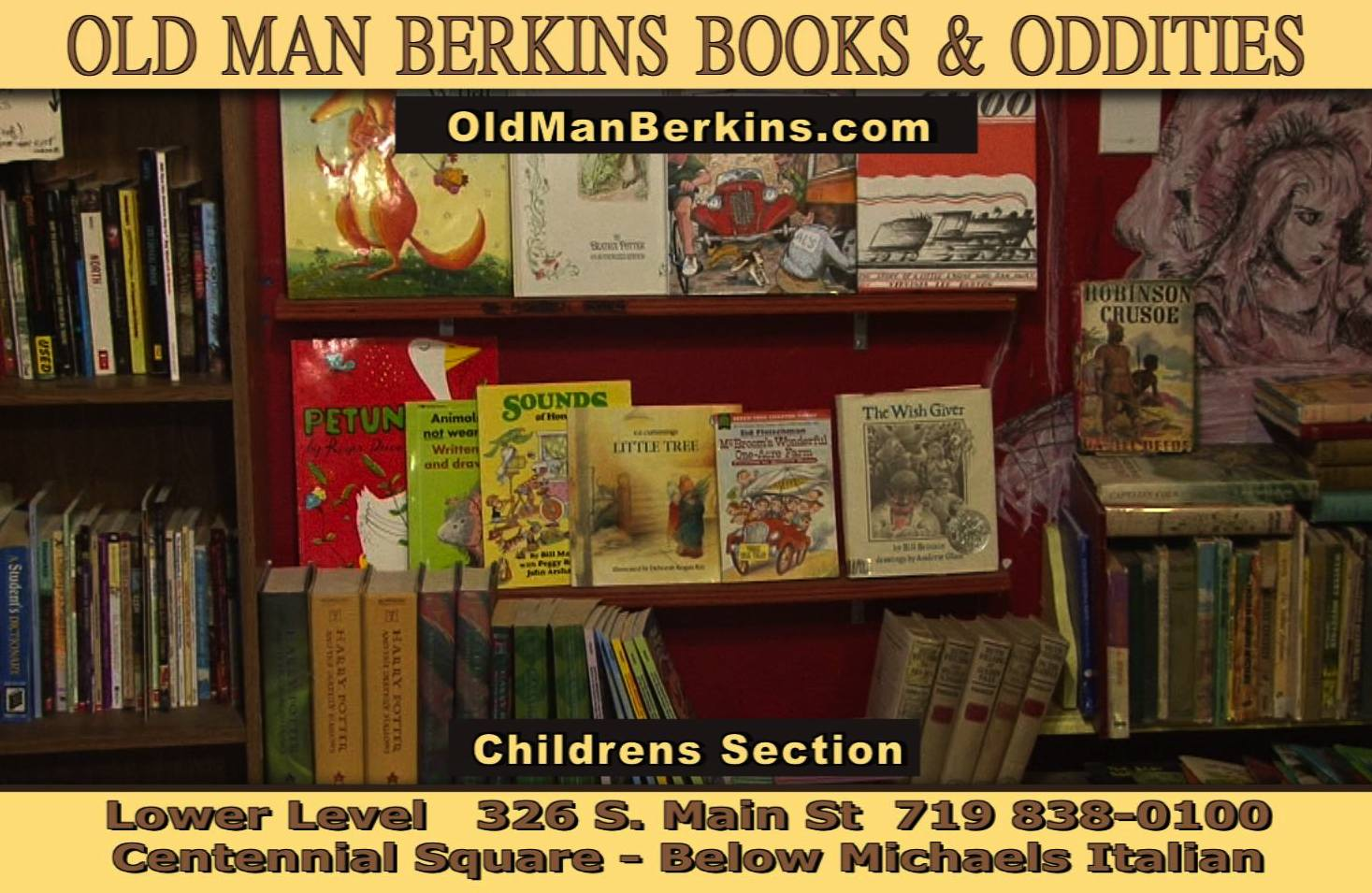 Old Man Berkins Books and Oddities